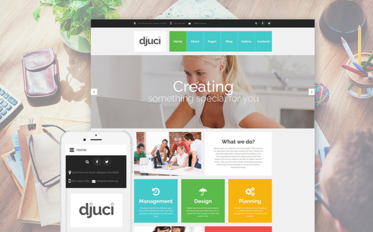 Djuci - Web Design Agency Joomla Template New Screenshots BIG