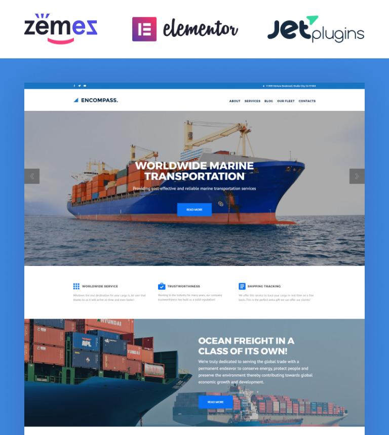 Encompass - Transportation Maritime WordPress Theme