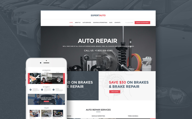 ExpertAuto - Mechanic WordPress Theme New Screenshots BIG