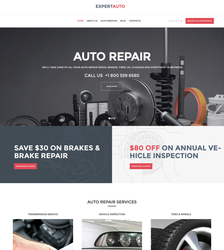 ExpertAuto - Mechanic WordPress Theme
