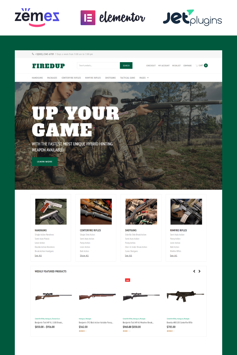 """Fired Up"" Responsive WooCommerce Thema №61201 - screenshot"