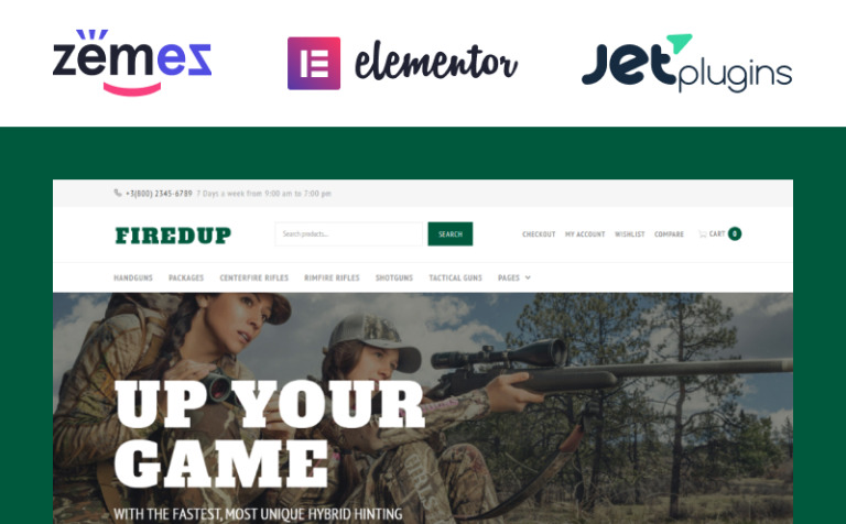 Gun Store WooCommerce Theme - Free template for invoices cheapest online gun store