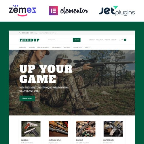 Fired Up - WooCommerce Weapon Store Template