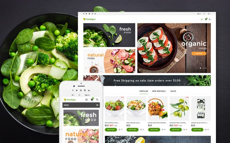 Foodiger - Grocery Store PrestaShop Theme New Screenshots BIG