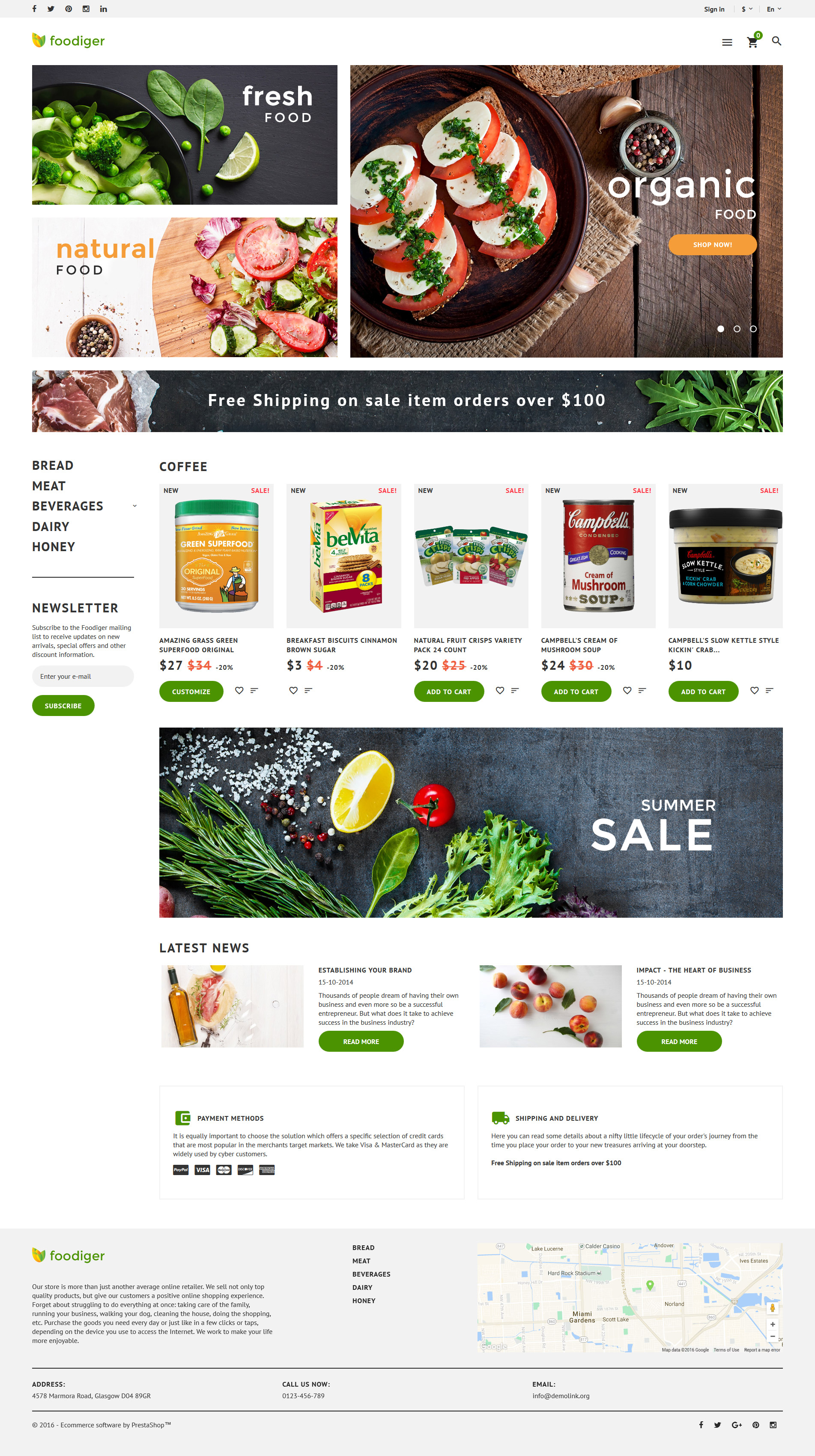grocery store prestashop theme