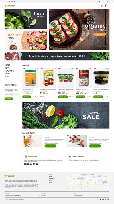 Foodiger - Grocery Store PrestaShop Theme