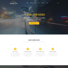 7+ Best Premium Taxi WordPress Themes 2019| TemplateMonster