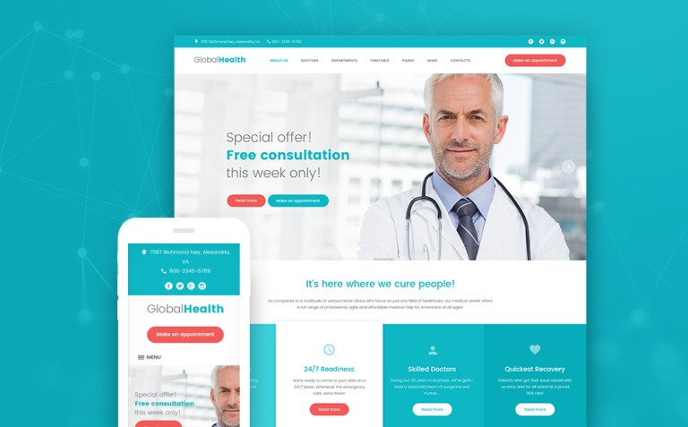 GlobalHealth - Doctor & Medical WordPress Theme New Screenshots BIG