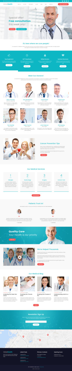 health template wordpress  Parallax WordPress Medical (Healthcare) Themes