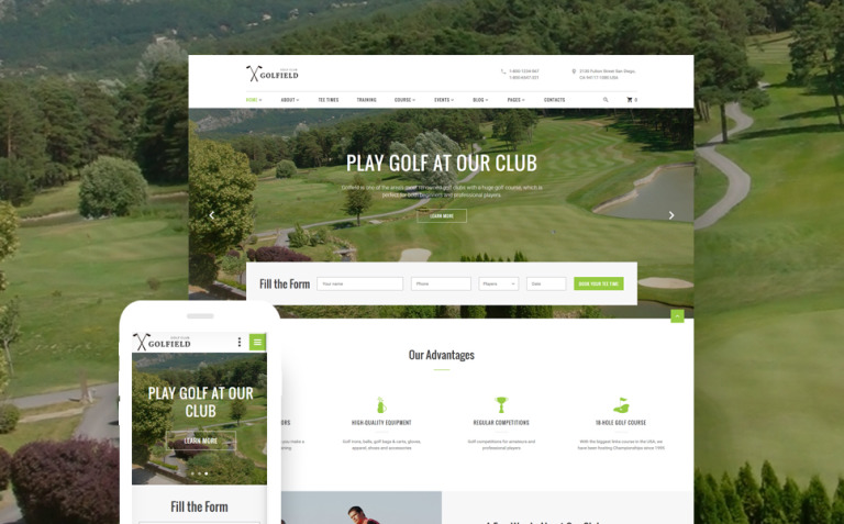 Golf Club Responsive Website Template New Screenshots BIG