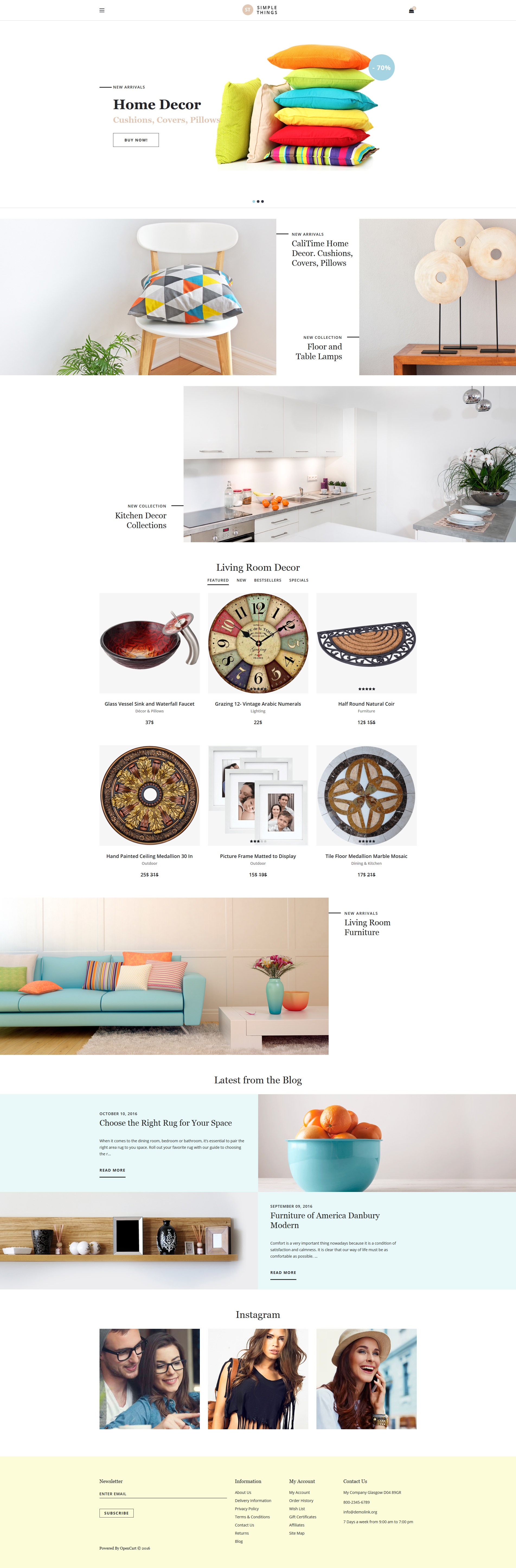 Home Decor Responsive OpenCart Template - screenshot