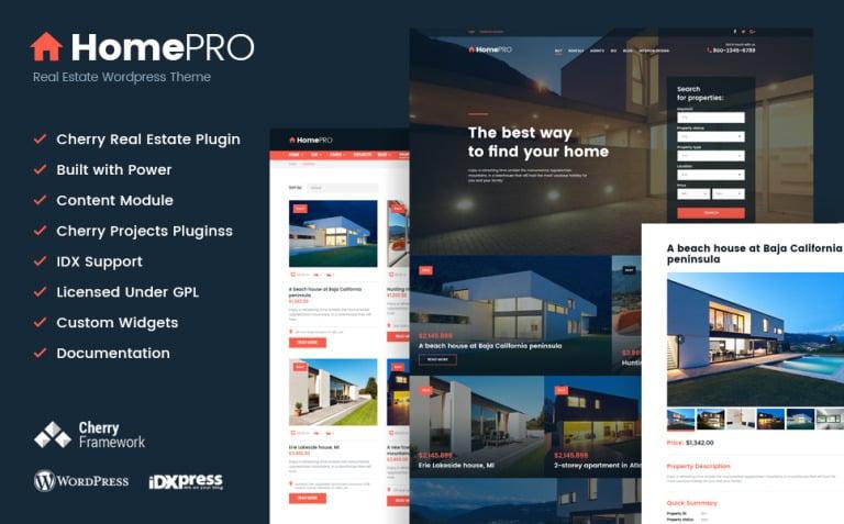 HomePro Real Estate Portal WordPress Theme New Screenshots BIG