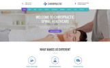 """HTML шаблон """"Chiropractic на тему нетрадиционная медицина"""""""