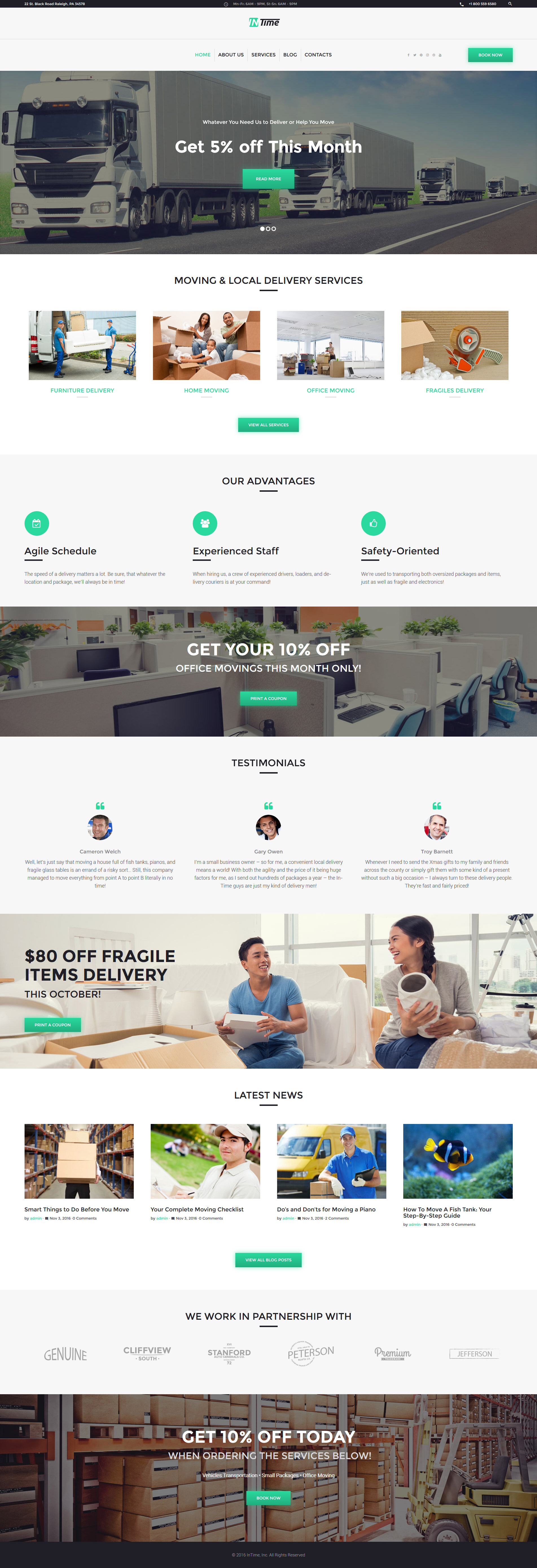 InTime - Delivery Services WordPress Theme WordPress Theme