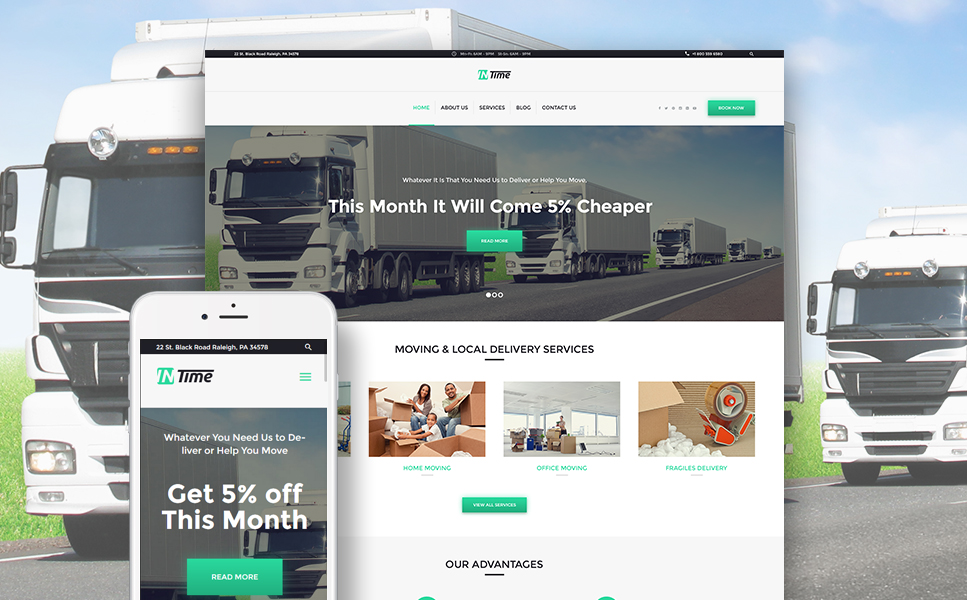 Delivery Services WordPress Theme