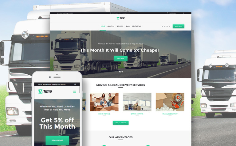 InTime - Delivery Services WordPress Theme New Screenshots BIG