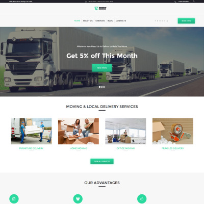 Tema de WordPress #61227 para Sitio de Servicios de entrega