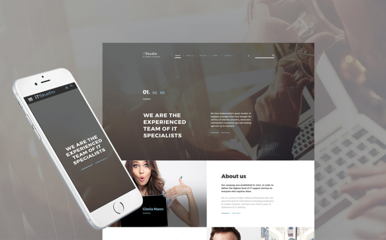 iTStudio - IT Support Company Responsive Website Template New Screenshots BIG
