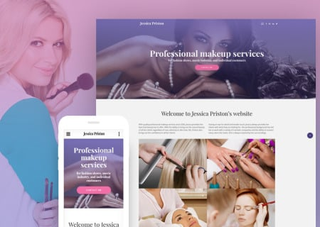 Jessica Priston - Makeup Services Responsive Multipage