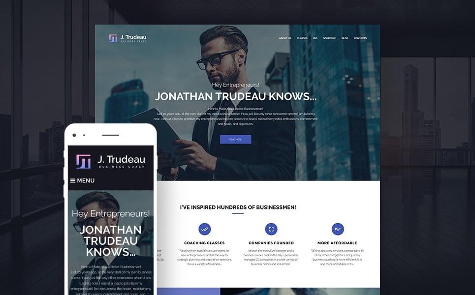 J.Trudeau - Business Coach WordPress Theme New Screenshots BIG