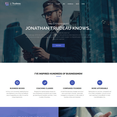 J. Trudeau - Responsive WordPress Coaching Template