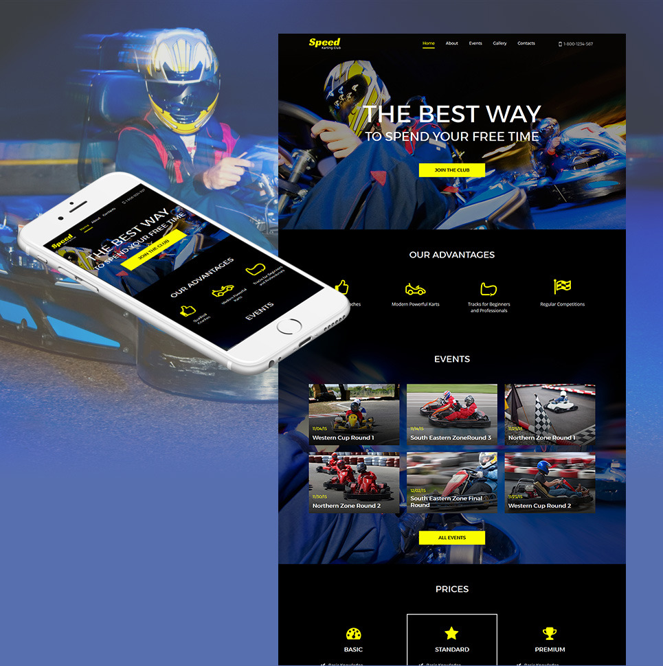 Karting Responsive Moto CMS HTML Template New Screenshots BIG