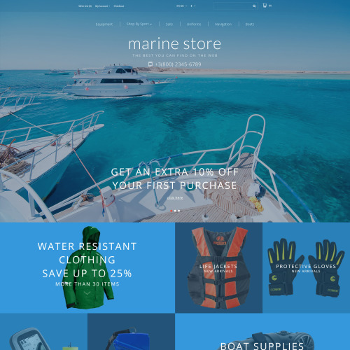 Marine Store - OpenCart Template based on Bootstrap