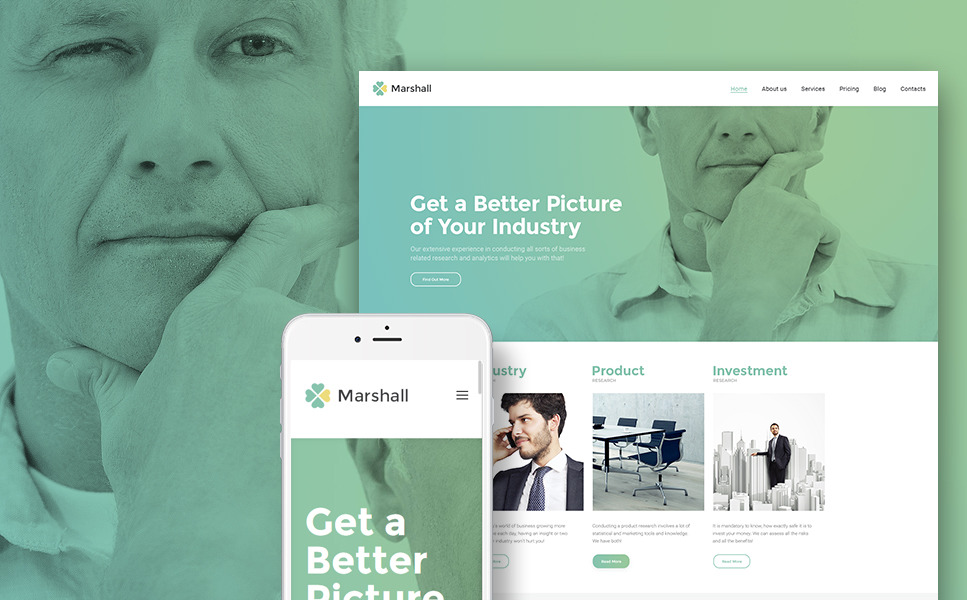 Marshal - Business Analysis and Market Research Agency WordPress Theme New Screenshots BIG