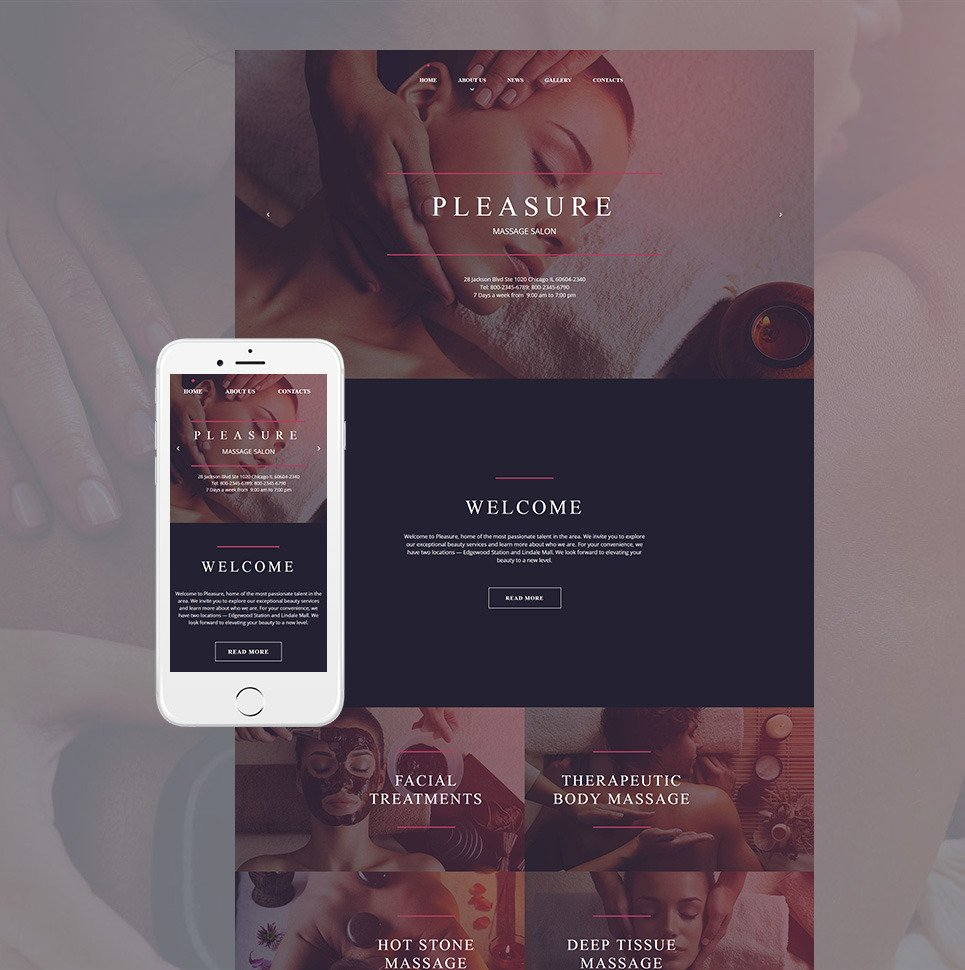 Massage Salon Moto CMS HTML Template New Screenshots BIG