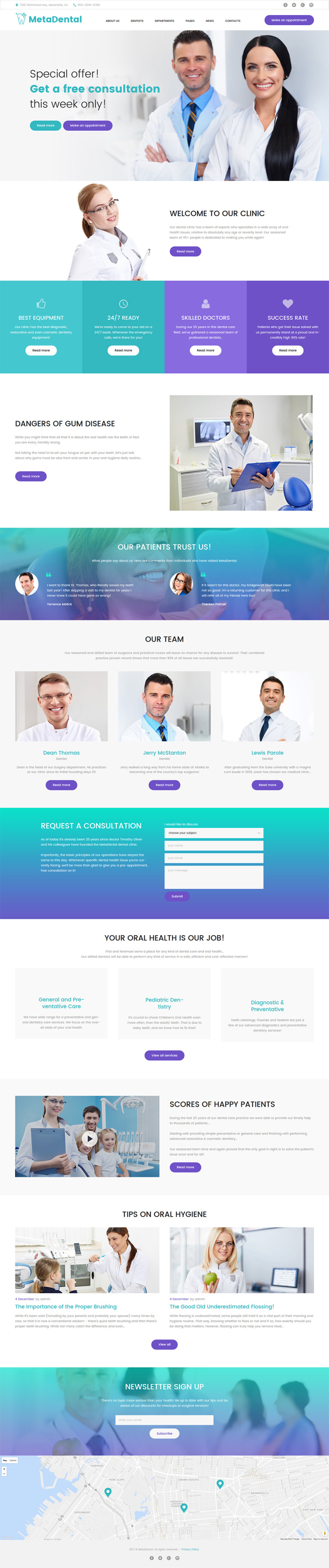 MetaDental - Private Dental Clinic Responsive WordPress Theme New Screenshots BIG