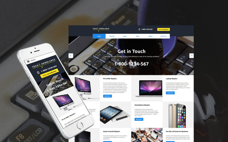 Mobile Repair Service Responsive Joomla Template New Screenshots BIG