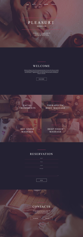 Modèle HTML de Massage Salon Moto CMS