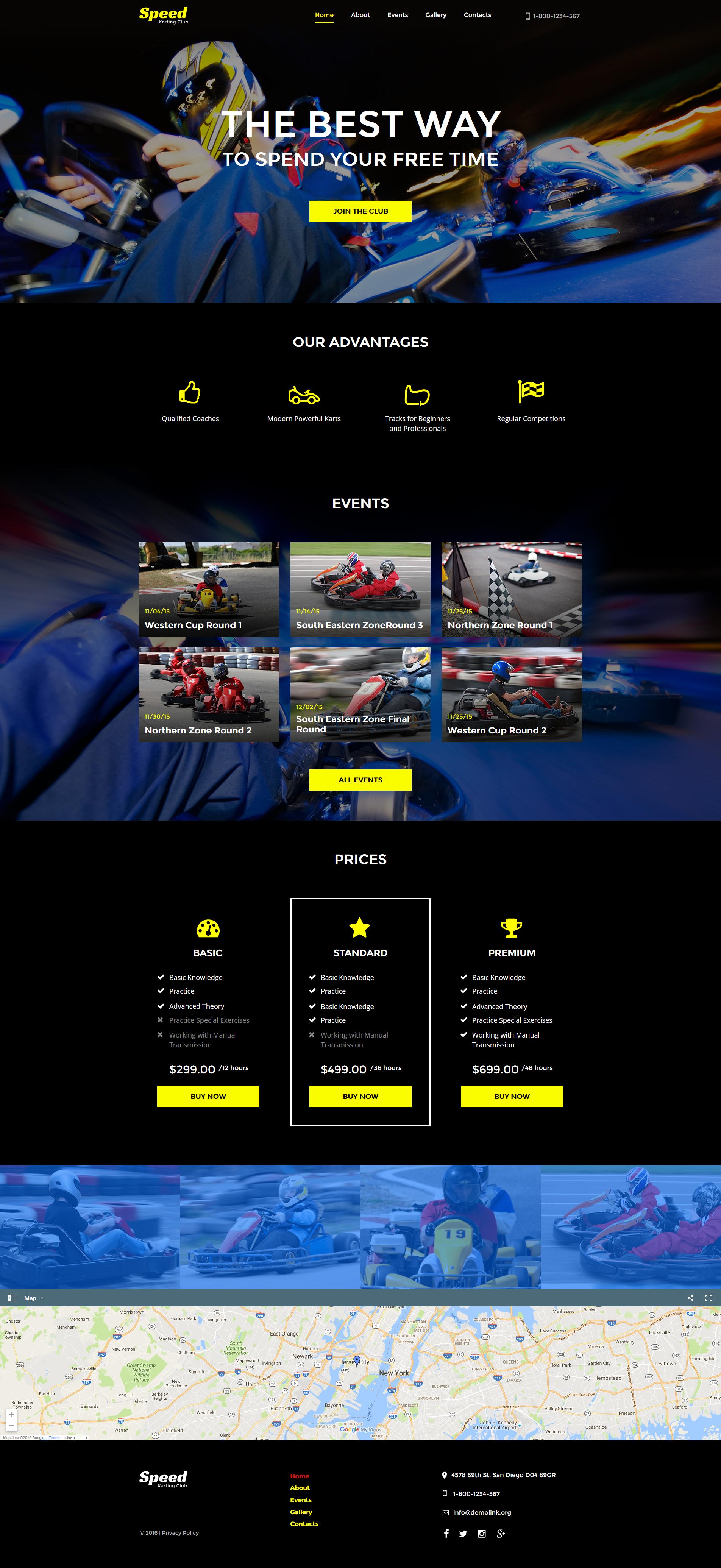 Modèle Moto CMS HTML pour site de karting #61288