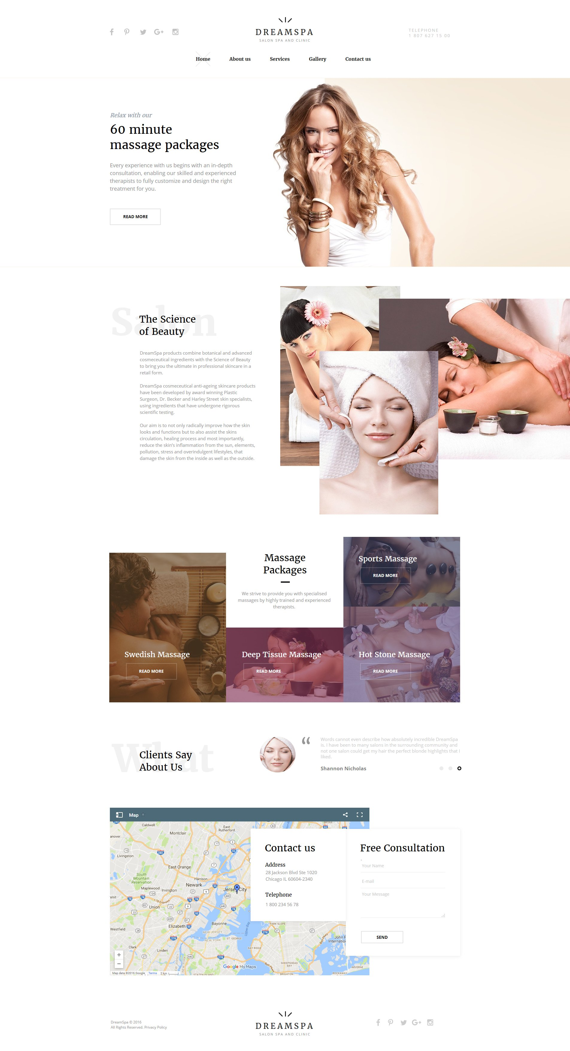 Modèle Moto CMS HTML Premium pour salon de beauté #61290