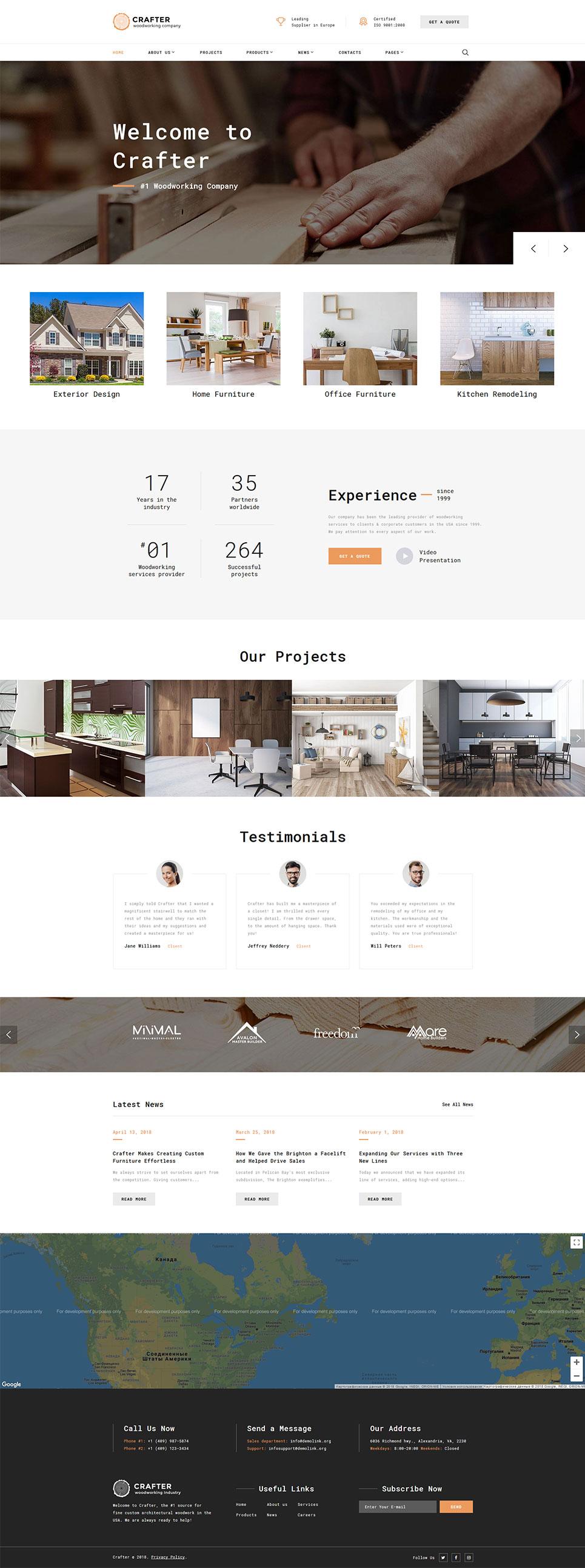 Modello siti web per un sito di arredamento e design for Siti design arredamento