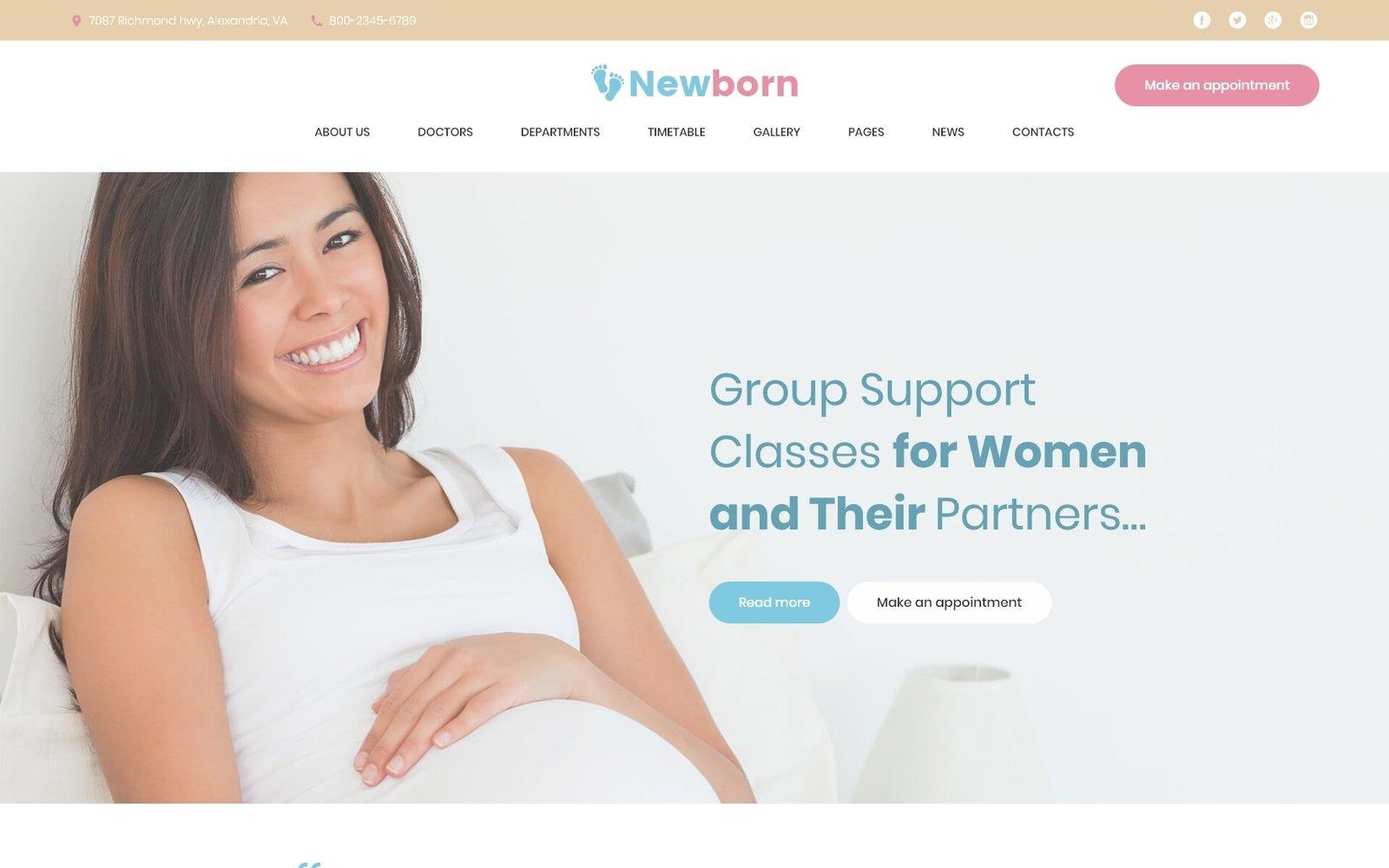 "Modello WordPress Responsive #61241 ""Newborn - Pregnancy Support Center"""