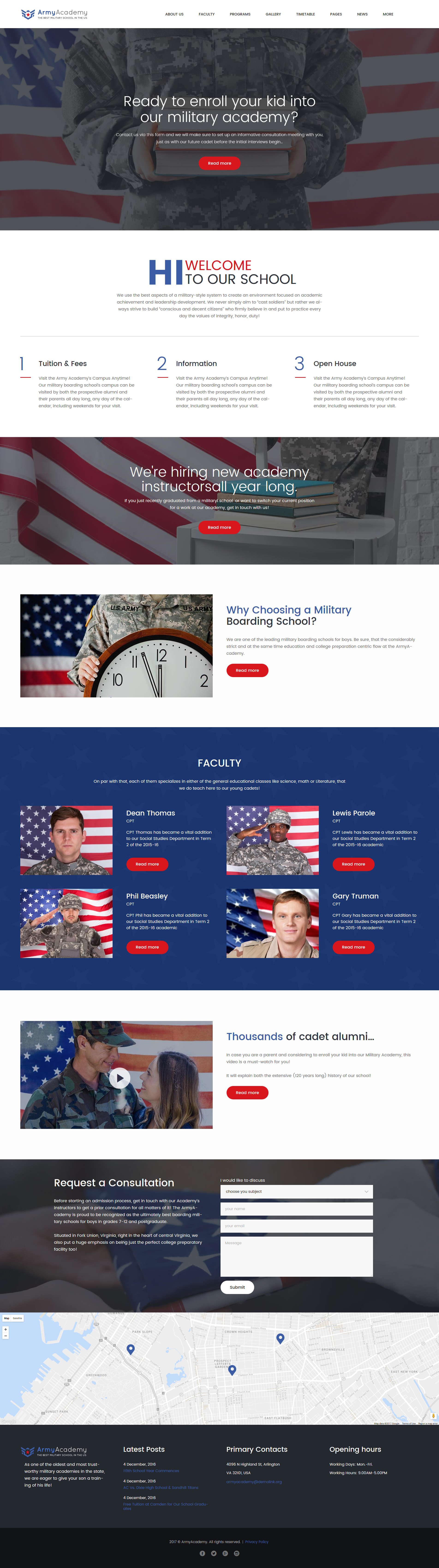 "Modello WordPress Responsive #61244 ""Army - Military Academy Responsive"""