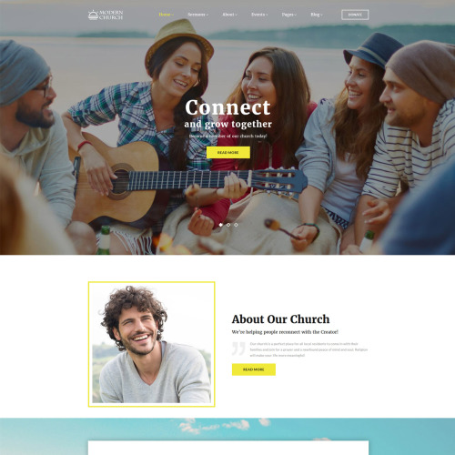 Modern Church  - Website Template based on Bootstrap