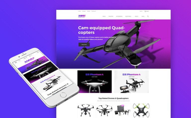 Moox - Drone Shop WooCommerce Theme New Screenshots BIG