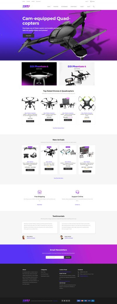 Moox - Drone Shop WooCommerce Theme