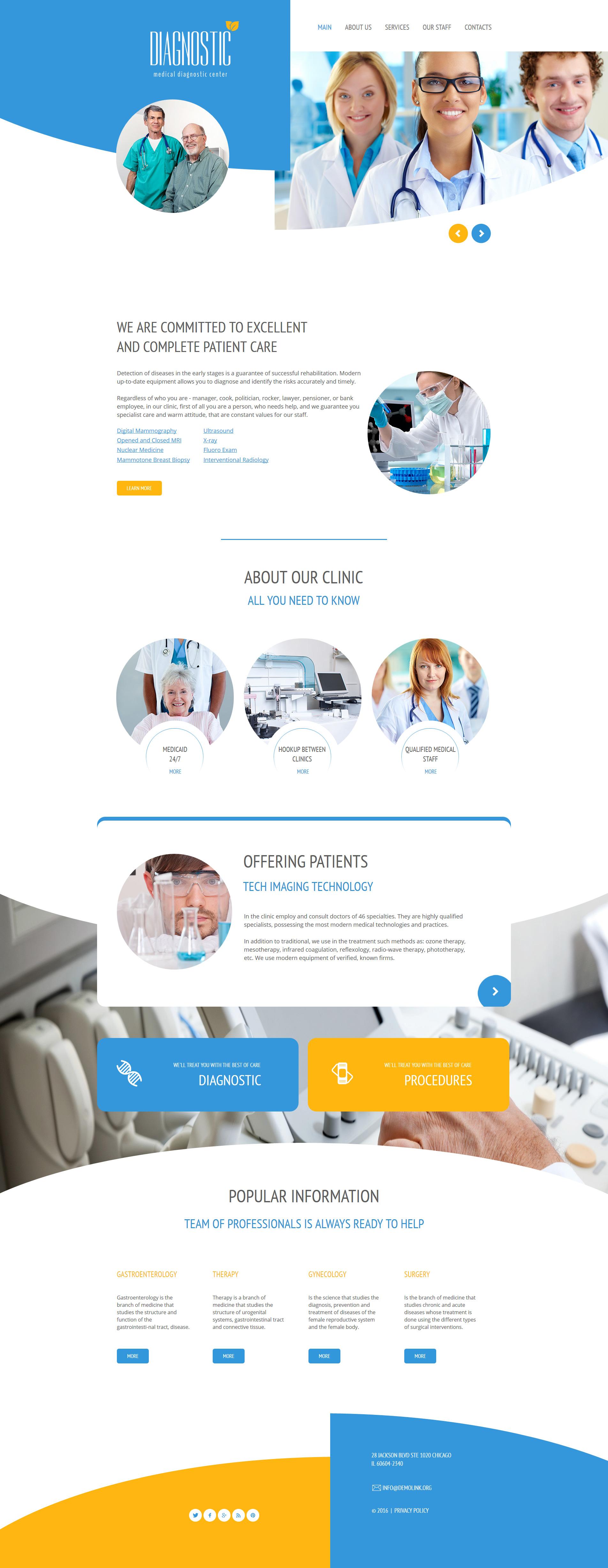 Moto CMS HTML Vorlage für Medizin #61289
