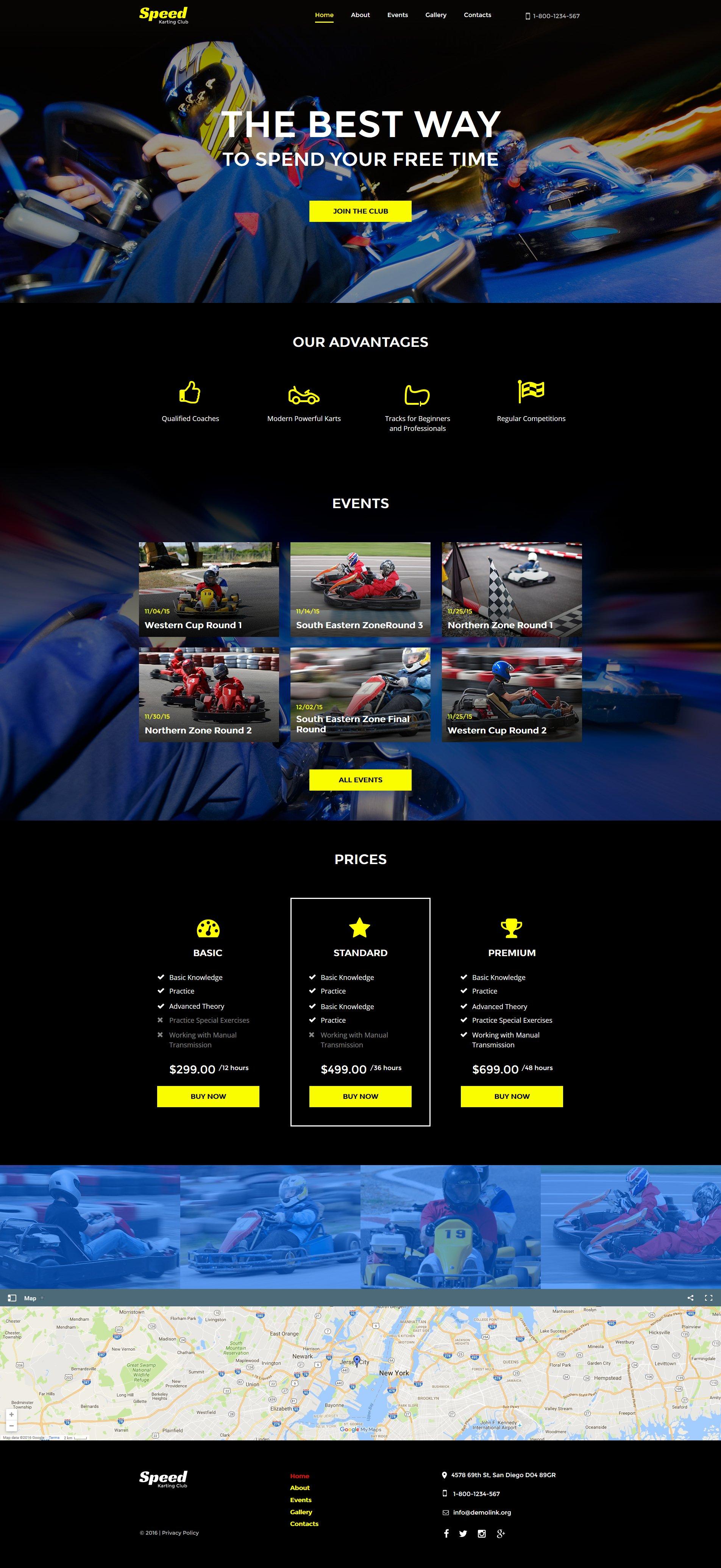MotoCMS HTML шаблон №61288 на тему картинг