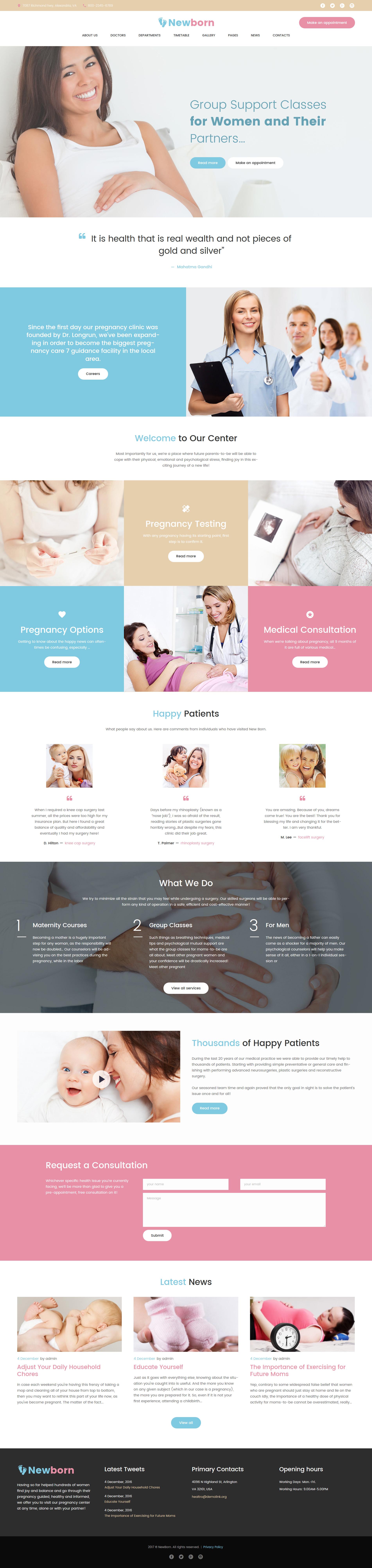 """""""Newborn - Centre de soutien à la grossesse"""" thème WordPress adaptatif #61241"""