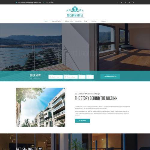Niceinn Hotel - Responsive WordPress Template