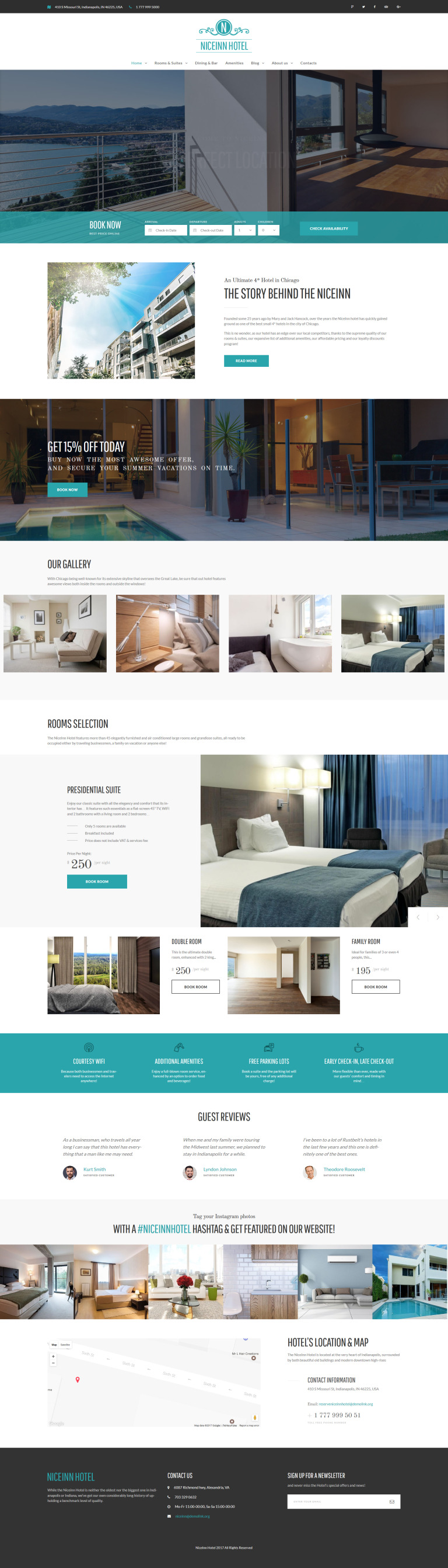 NiceInn - Small Hotel Responsive WordPress Theme New Screenshots BIG