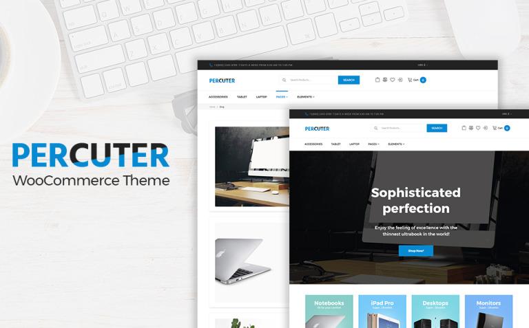 Percuter WooCommerce Theme New Screenshots BIG