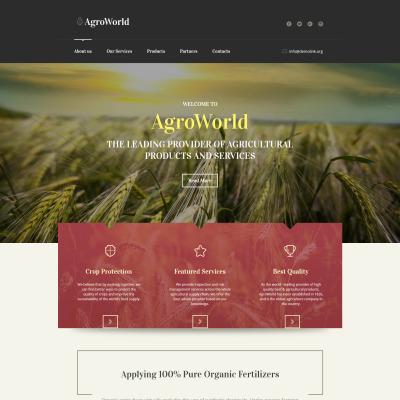 Plantilla Moto CMS HTML #61292 para Sitio de  para Sitio de Agricultura