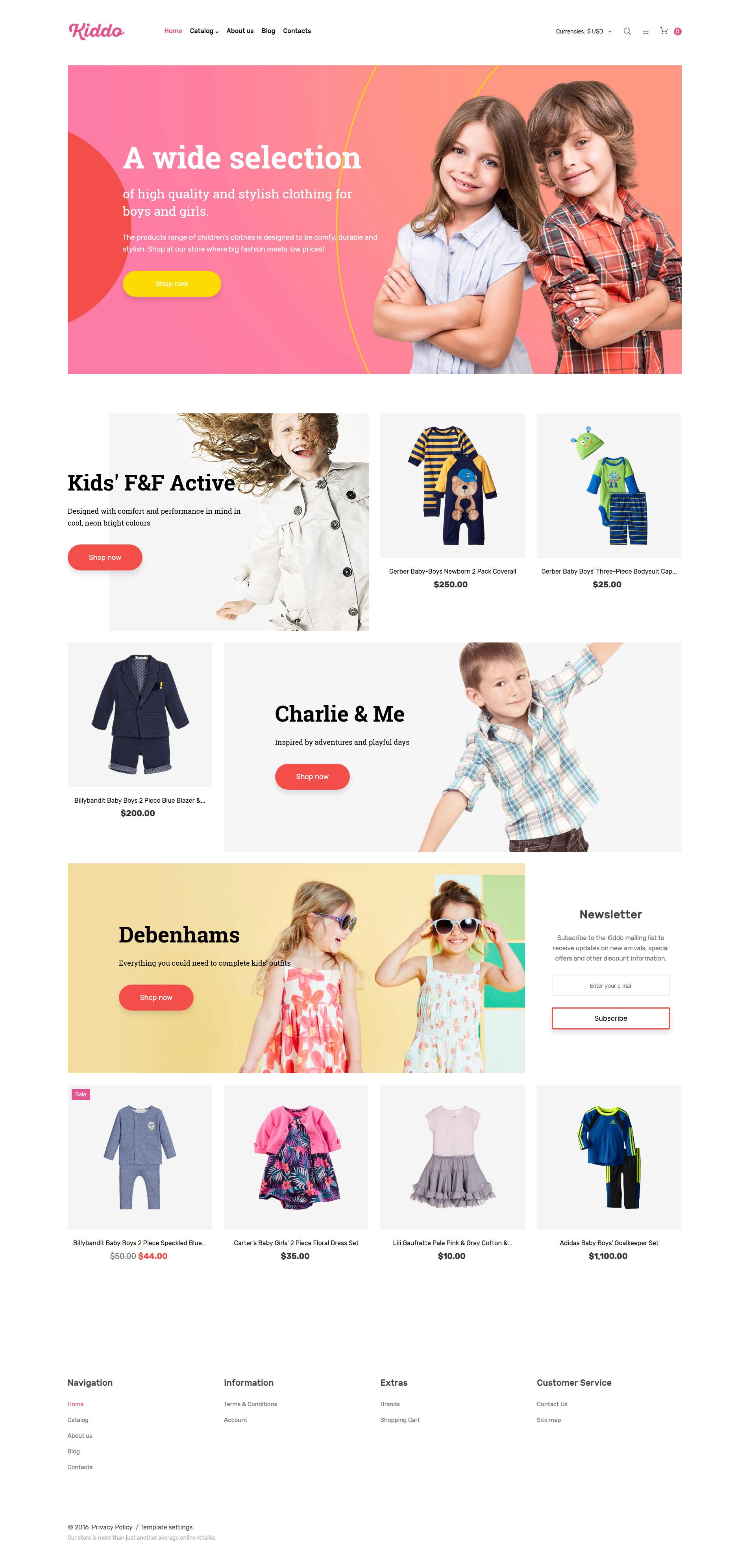 Plantilla VirtueMart #61272 para Sitio de Tienda de Productos para Bebés
