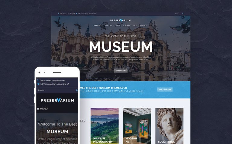 Preservarium - Museum Responsive WordPress Theme New Screenshots BIG