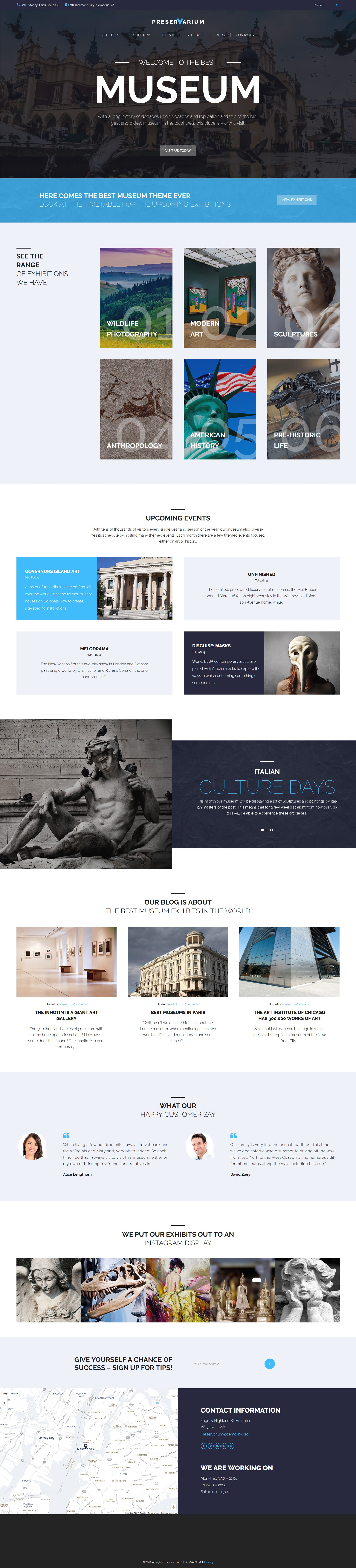 Preservarium - Museum Responsive WordPress Theme - screenshot